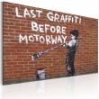 Obraz - Ostatnie graffiti przed autostradą (Banksy) A0-N1800