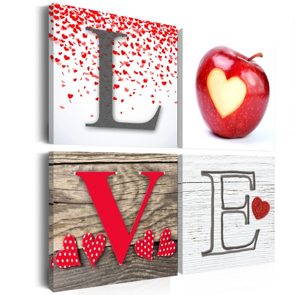 Obraz - Owoc miłości (40x40 cm vlies-leinwand cm) A0-N2665