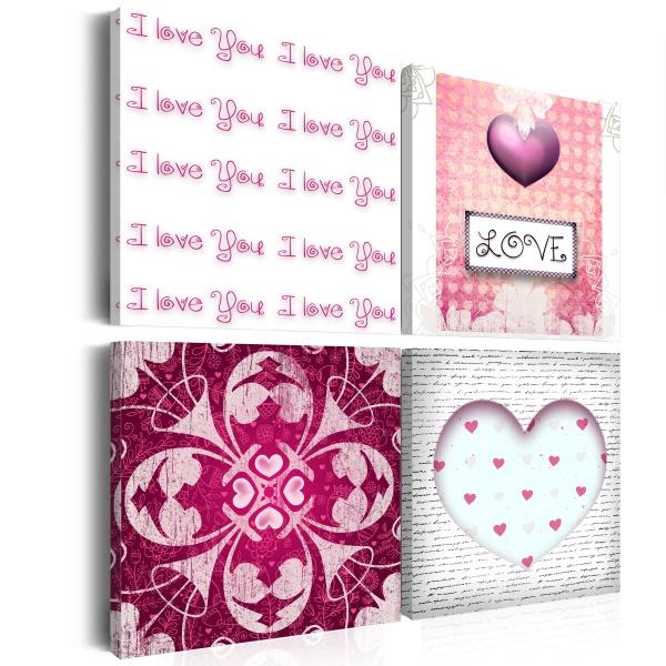 Obraz - P.S. I love you (40x40 cm vlies-leinwand cm) A0-N2664