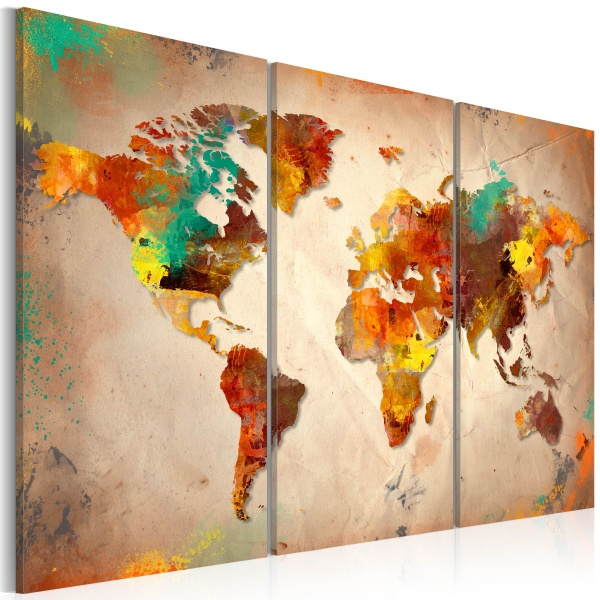 Obraz - Painted World - triptych (60x40 cm) A0-N2529