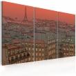 Obraz - Paryska Wieża Eiffla na tle zachodzącego słońca A0-N1768