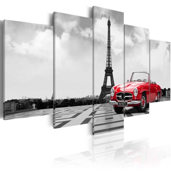 Obraz - Paryski samochód (100x50 cm) A0-N3067
