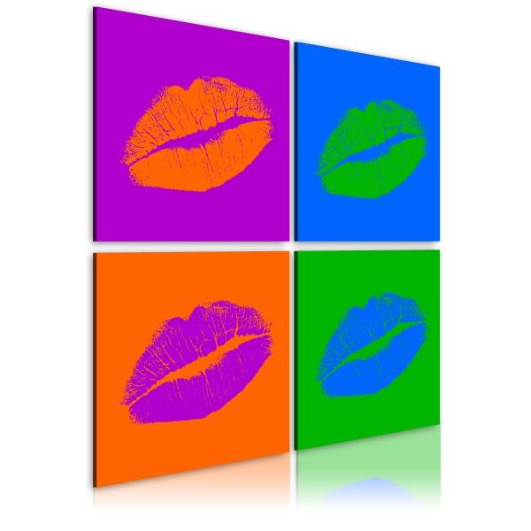 Obraz - Pocałunki: Pop art (40x40 cm) A0-N1921