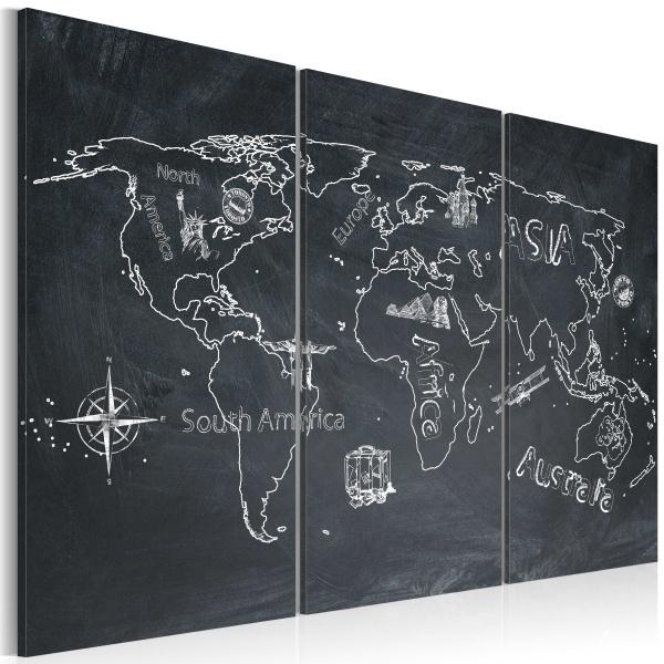 Obraz - Podróże kształcą - tryptyk (60x40 cm) A0-N2114
