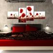 Obraz - Pole czerwonych maków na białym tle A0-N1427