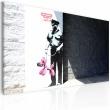 Obraz - Policjant i różowy pies (Banksy) A0-N1810