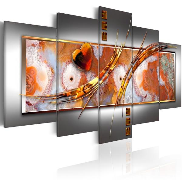 Obraz - Pomarańczowa destrukcja (100x50 cm) A0-N2913