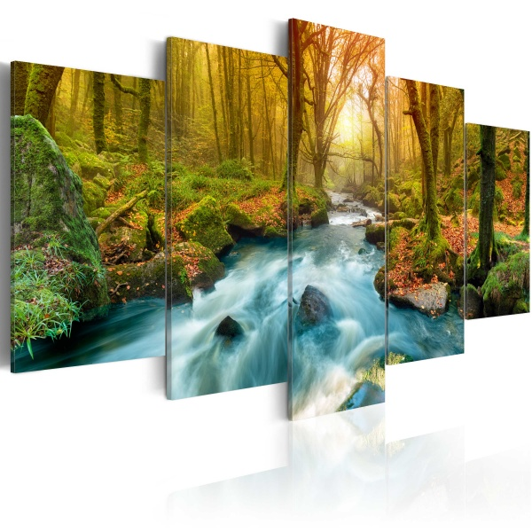 Obraz - Poranek nad rzeką (100x50 cm) A0-N3258