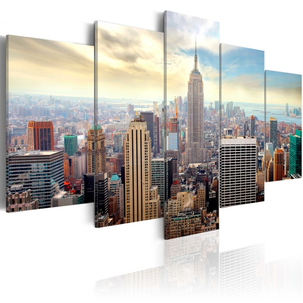 Obraz - Poranek w Nowym Jorku (100x50 cm) A0-N2989
