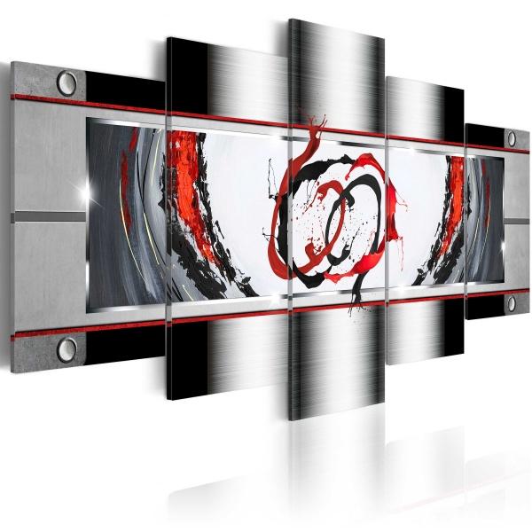 Obraz - Powiew platyny (100x50 cm) A0-N3251