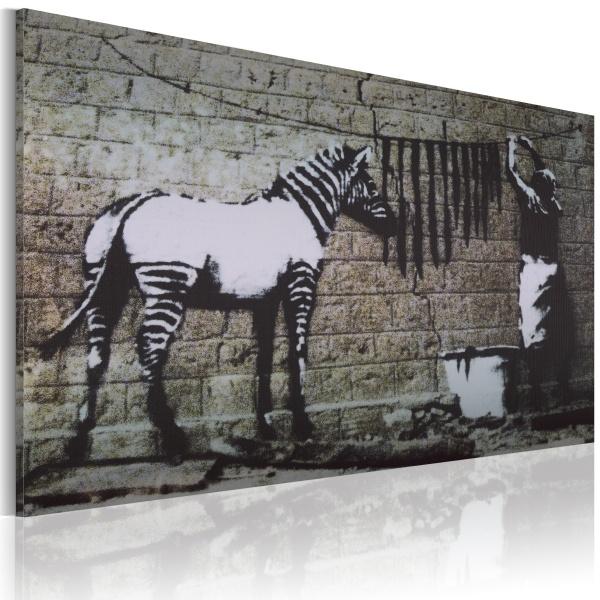 Obraz - Pranie (Banksy) (60x40 cm) A0-N1868