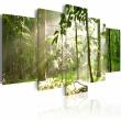 Obraz - Promień światła pośród drzew A0-N1386