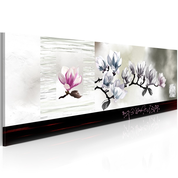 Obraz - Przebudzenie magnolii (120x40 cm) A0-N2641