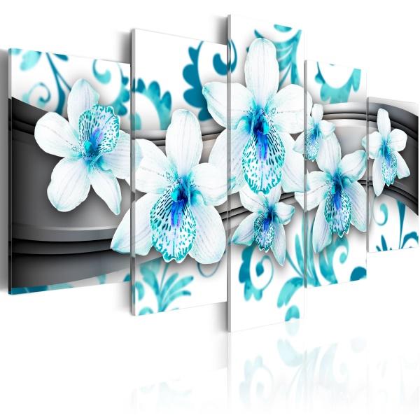 Obraz - Przyjemność wśród błękitu (100x50 cm) A0-N2967