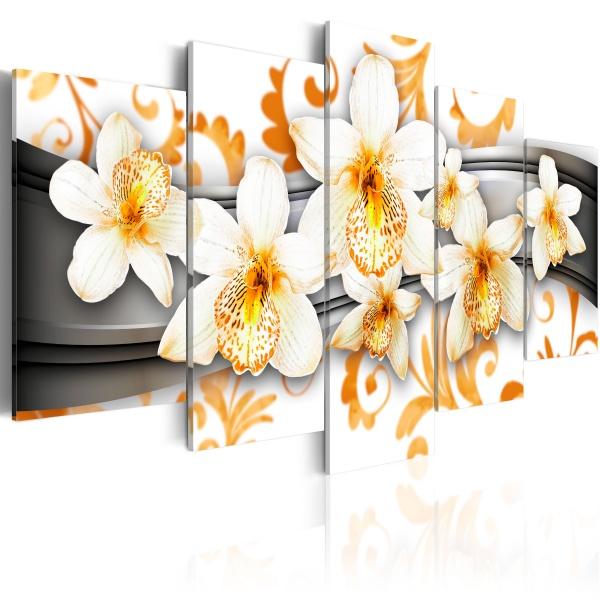Obraz - Przyjemność wśród pomarańczu (100x50 cm) A0-N2966