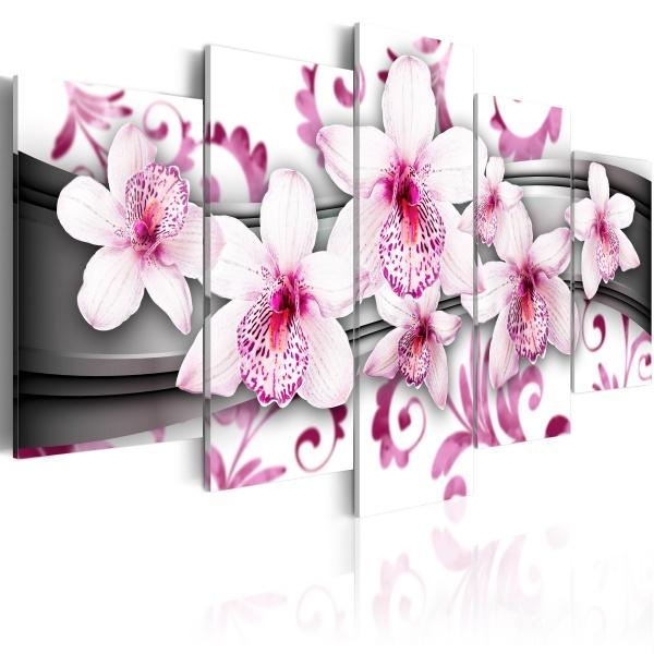 Obraz - Przyjemność wśród różu (100x50 cm) A0-N2965