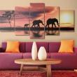 Obraz - Rodzina afrykańskich słoni A0-N1548
