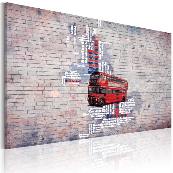 Obraz - Routemasterem dookoła Wielkiej Brytanii (60x40 cm) A0-N2175