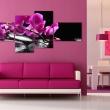 Obraz - Różowa orchidea i kamienie Zen A0-N1376