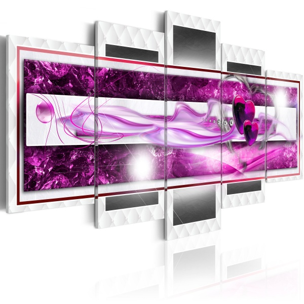 Obraz - Różowa żądza (100x50 cm) A0-N2942