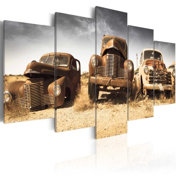 Obraz - Samochody z duszą (100x50 cm) A0-N3050