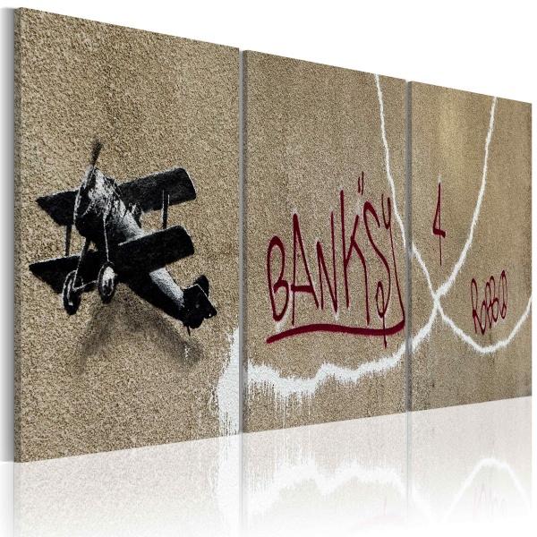 Obraz - Samolot (Banksy) (60x30 cm) A0-N1917