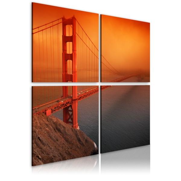 Obraz - San Francisco - Most Golden Gate (40x40 cm) A0-N1972