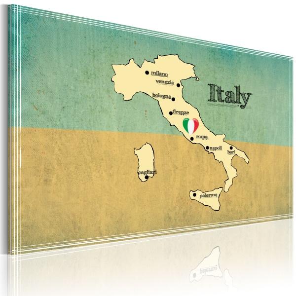 Obraz - Serce Włoch (60x40 cm) A0-N2170