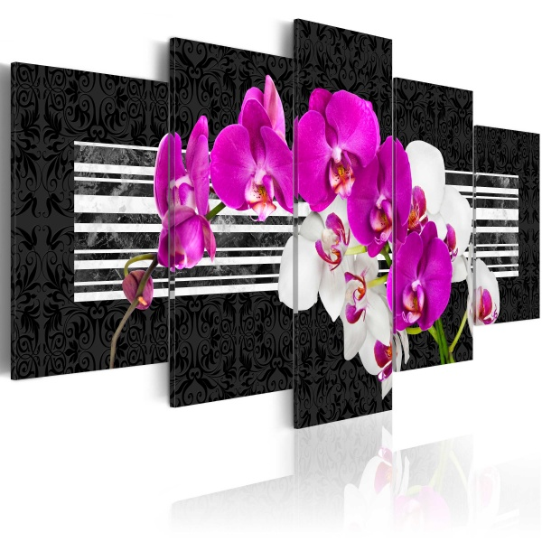 Obraz - Skromne orchidee (100x50 cm) A0-N2986
