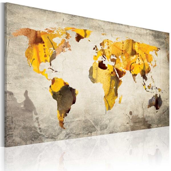 Obraz - Słoneczne kontynenty (60x40 cm) A0-N2036