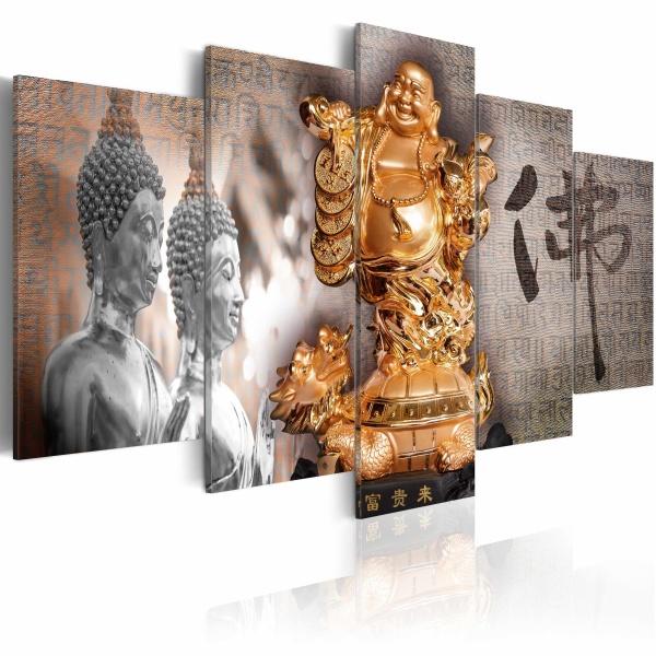 Obraz - Smile to Buddha! (100x50 cm) A0-N2797