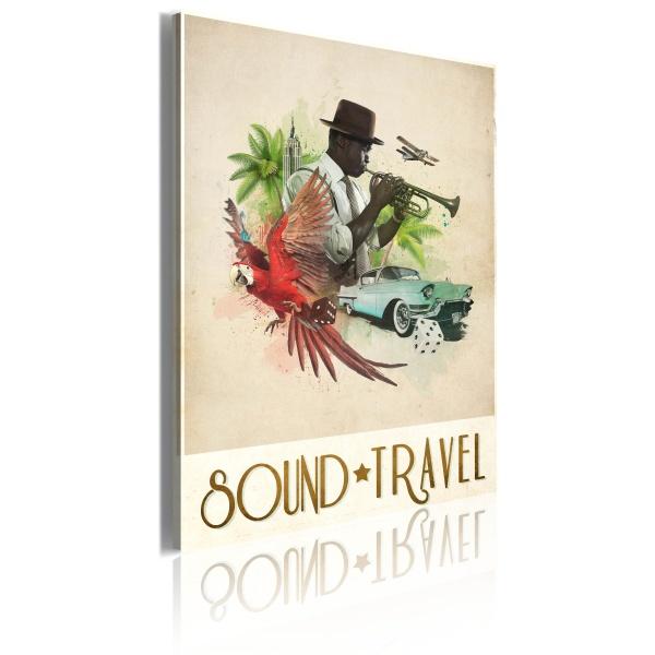 Obraz - Sound&Travel (50x70 cm) A0-OBRPLK32