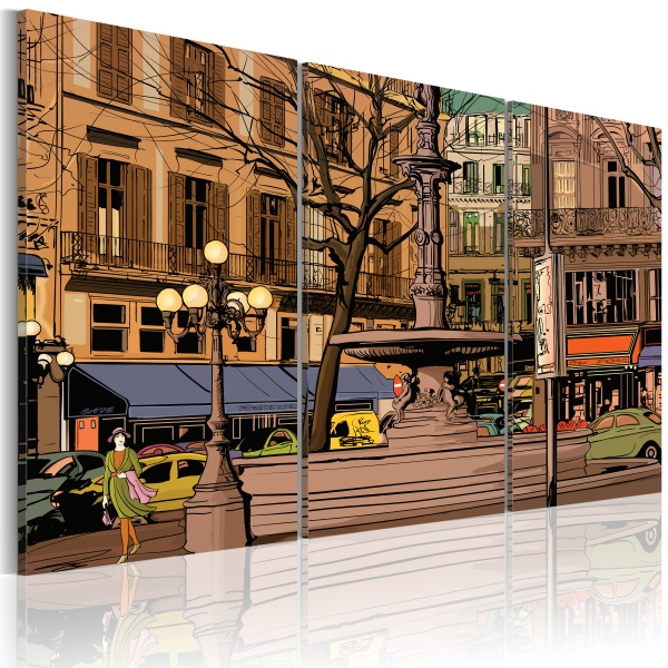Obraz - Spokojny wieczór w Paryżu (60x40 cm) A0-N1845
