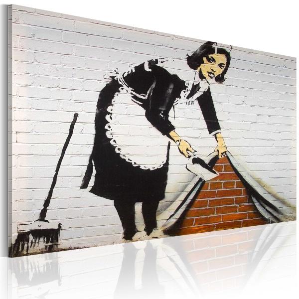 Obraz - Sprzątaczka (Banksy) (60x40 cm) A0-N1870