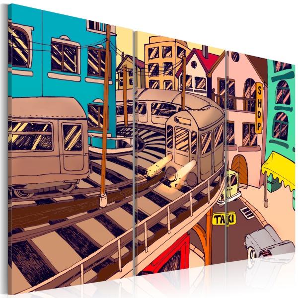 Obraz - Stacja kolejowa w Nowym Jorku (60x40 cm) A0-N1842
