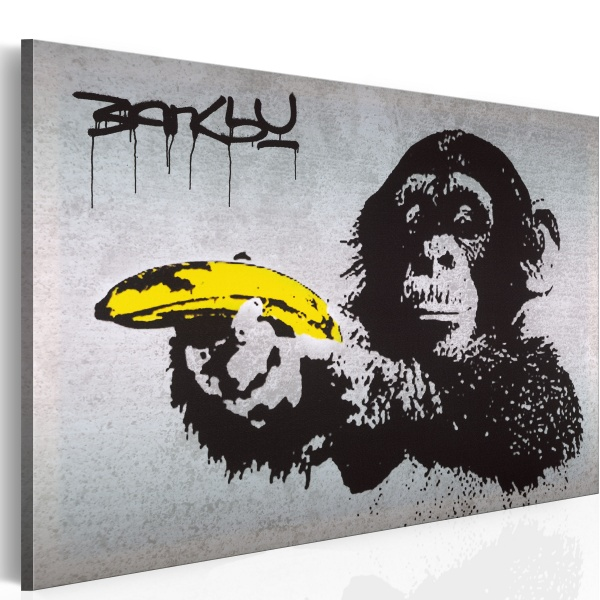 Obraz - Stój, bo małpa strzela! (Banksy) (60x40 cm) A0-N1869