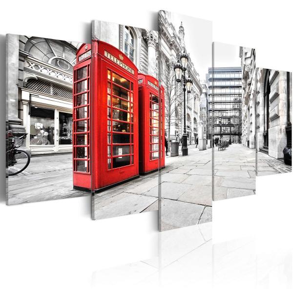 Obraz - Street of London (100x50 cm vlies-leinwand cm) A0-N2657
