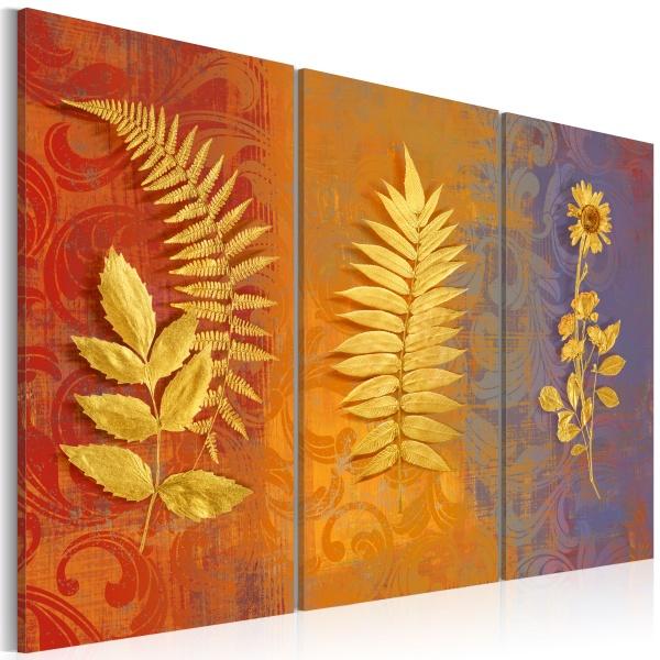 Obraz - Suszone kwiaty - tryptyk (60x40 cm) A0-N2919