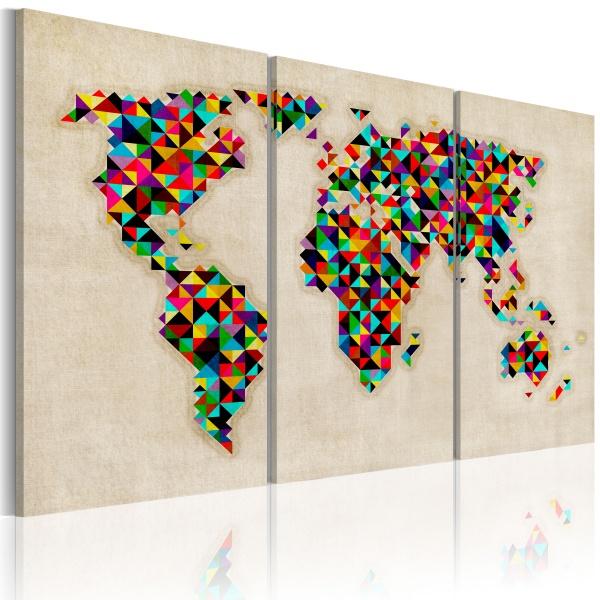 Obraz - Świat jak kalejdoskop - tryptyk (60x40 cm) A0-N2106
