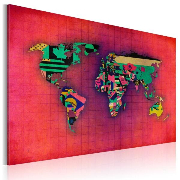 Obraz - Świat jest mój (60x40 cm) A0-N2158