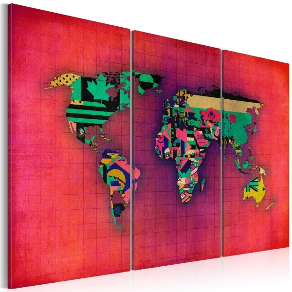 Obraz - Świat jest mój - tryptyk (60x40 cm) A0-N2107