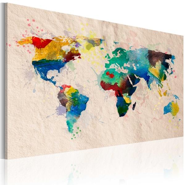 Obraz - Świat kolorów (60x40 cm) A0-N2044