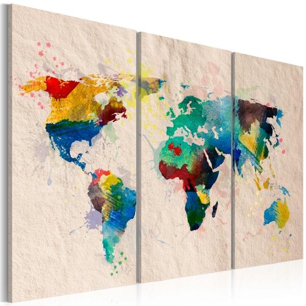 Obraz - Świat kolorów - tryptyk (60x40 cm) A0-N2064