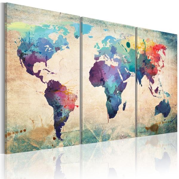 Obraz - Świat malowany akwarelami (60x30 cm) A0-N2017