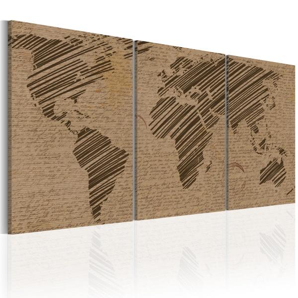 Obraz - Świat niczym pamiętnik (60x30 cm) A0-N2021
