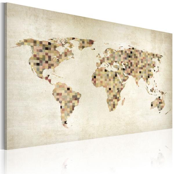Obraz - Świat w odcieniach beżu (60x40 cm) A0-N2168