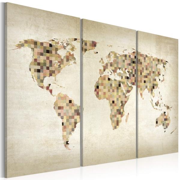 Obraz - Świat w odcieniach beżu - tryptyk (60x40 cm) A0-N2116