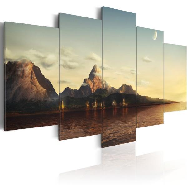 Obraz - Świt w górach (100x50 cm) A0-N2581