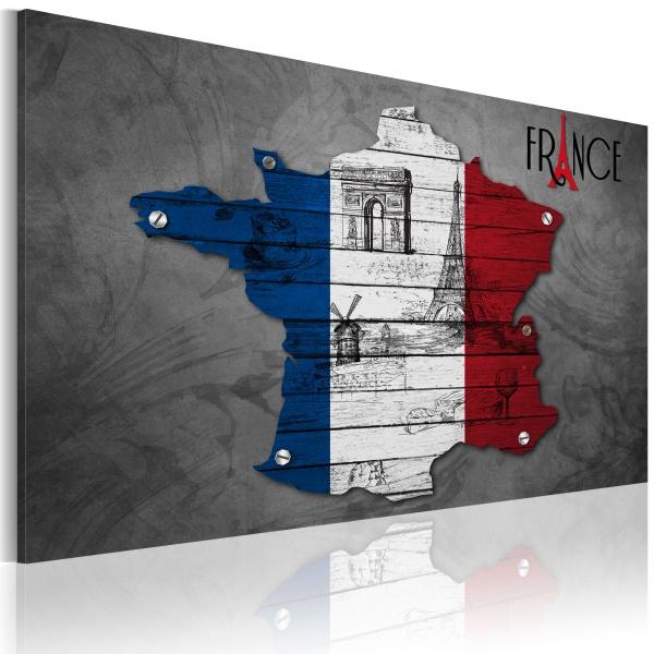 Obraz - Symbole Francji (60x40 cm) A0-N2190