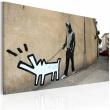Obraz - Szczekający pies (Banksy) A0-N1816